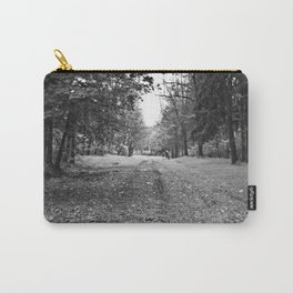 Walking Down A Wooded Road Carry-All Pouch