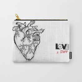 Heart Of Hearts: Outline & Stuff Carry-All Pouch