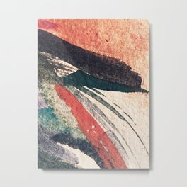 Thunder&Lightning {3}: Minimal watercolor abstract in pinks, blues, and greens Metal Print