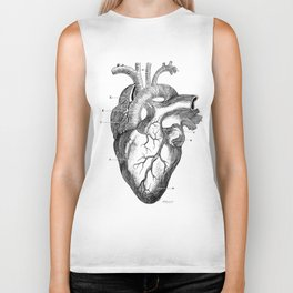 Anatomic hearth engraving Biker Tank