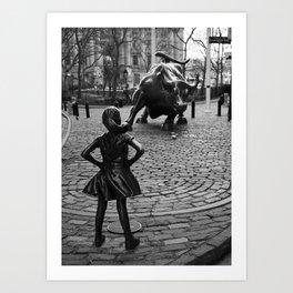 Fearless Girl Art Print