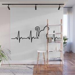 Cat Heartbeat Wall Mural