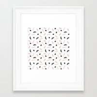infamous Framed Art Prints featuring Infamous Mustaches by Katherine Messenger