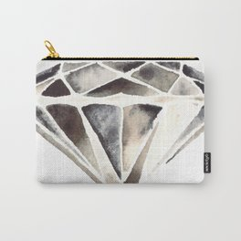 Monotone Diamond Carry-All Pouch