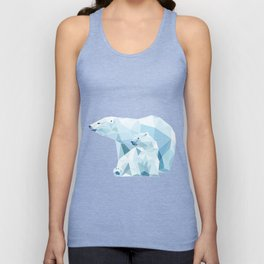 polygonal polar bear Unisex Tank Top