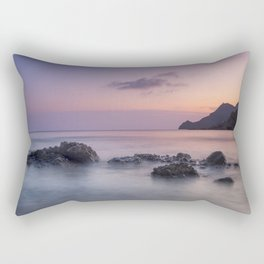Purple sea. Half Moon beach. Rectangular Pillow
