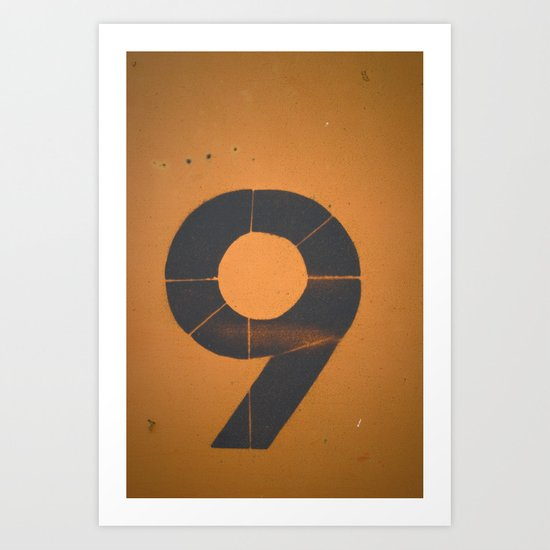 Old Number 9 Art Print