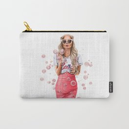 Girl with bubbles Carry-All Pouch