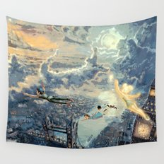 Peter Pan - The Second Star to the Right Wall Tapestry