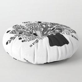 Shaun the sheep Nudibranch in black Floor Pillow
