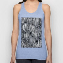Black Vietnamese Lanterns Unisex Tank Top