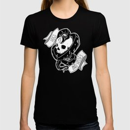 Hugs and Hisses Snake and Skull T-shirt