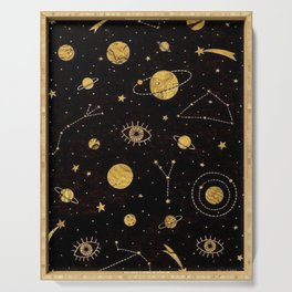 Cosmos (black & gold) Serving Tray