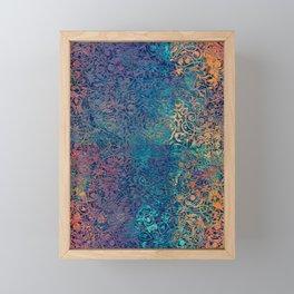 magic mandala 45 #magic #mandala #decor Framed Mini Art Print