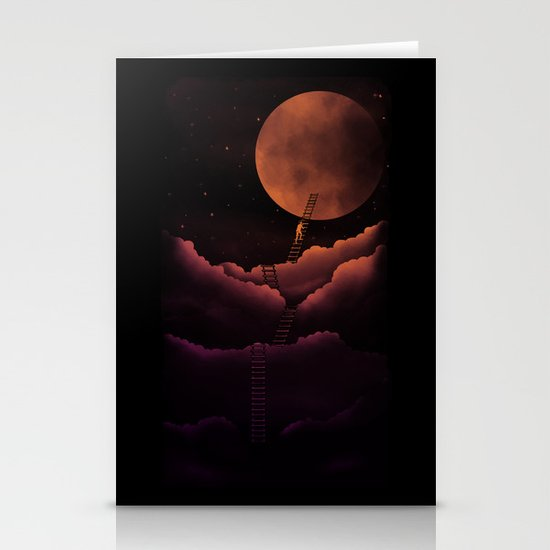 Stairway To the Moon Stationery Cards