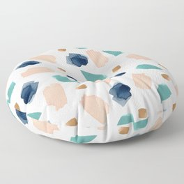 turquoise, navy, pink & gold Floor Pillow