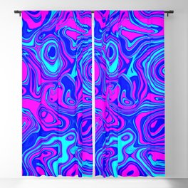 Liquid Color Pink and Blue Blackout Curtain