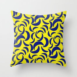 Many Moons - Yellow Throw Pillow