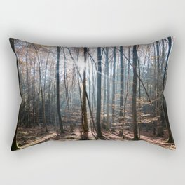 Light Shining in the Forest Rectangular Pillow