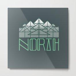 TEAL NORTH Metal Print