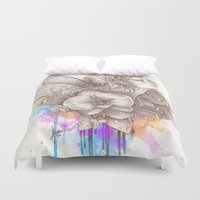 orchid Duvet Covers featuring Orchid by Bea González