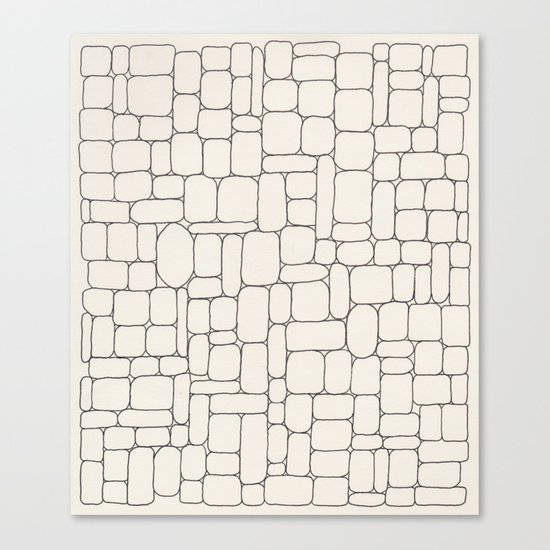 Stone Wall Drawing #3 Canvas Print