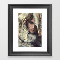 Coyote Girl Framed Art Print