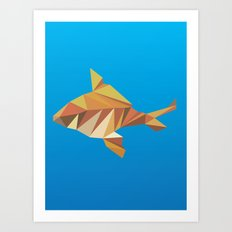 Geometric Goldfish Art Print