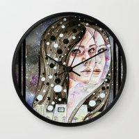 nightmare Wall Clocks featuring Nightmare by Veronika Weroni Vajdová