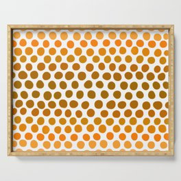 Burnt Honey Gold Amber Ombre Dots Serving Tray