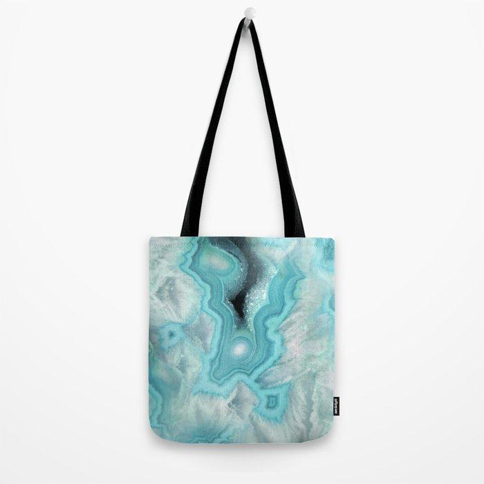 Aqua Sea Stone Tote Bag