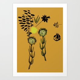 Plants. End of the summer. Art Print
