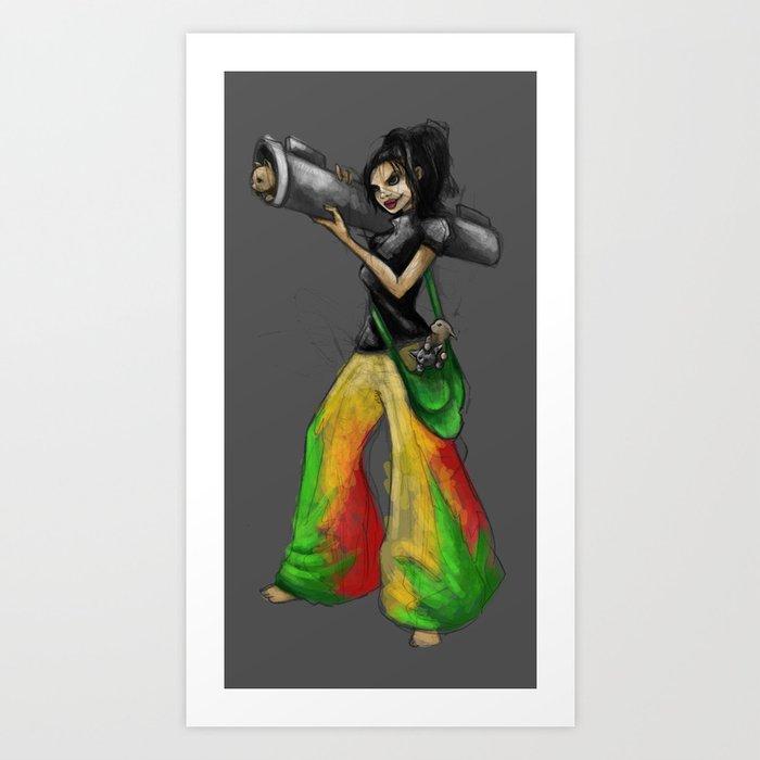 Kittie Launcher Art Print