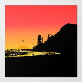 Burleigh beach Canvas Print