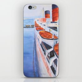 Queen Mary from the Bridge iPhone Skin