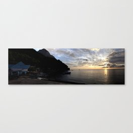 St Lucian sunset Canvas Print