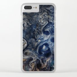 Jupiter Blues Clear iPhone Case