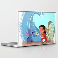 lilo and stitch Laptop & iPad Skins featuring Lilo & Stitch by Orelly