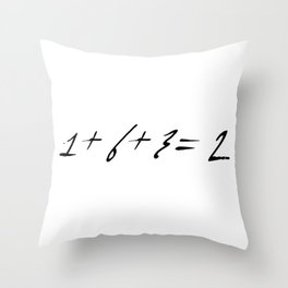 1+6+3=2 funny baseball quotes numbers math scores Throw Pillow