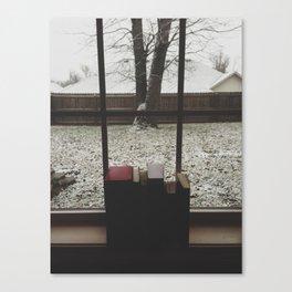 Winter Books Canvas Print