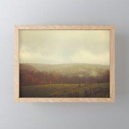 Misty Fall in Vermont Framed Mini Art Print