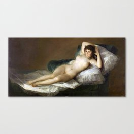 Maja Desnuda (The Nude Maja) by Francisco Goya Canvas Print