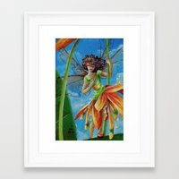 marianna Framed Art Prints featuring Marianna - Heliconia Haute Couture by Lauralin Maynard