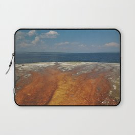 Drainage from thermal features into Lake Yellowstone Laptop Sleeve