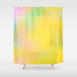 Re-Created Colored Squares No. 36 by Robert S. Lee Shower Curtain