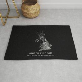 United Kingdom Road Map  Rug