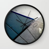 aviation Wall Clocks featuring Aviation by Paper Possible