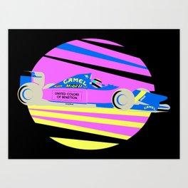 Michael Shumacher 1992 vector art.  Art Print
