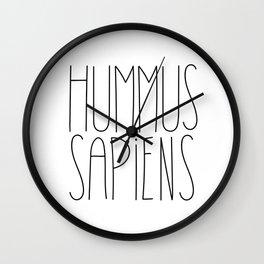 Hummus Sapiens Wall Clock