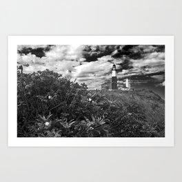 "Montauk Point Lighthouse ""The end"" Art Print"